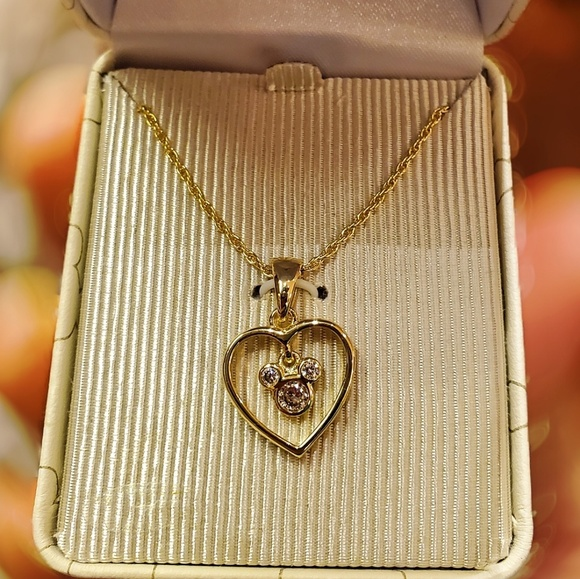 bb6b678a293fa DISNEY PARKS MICKEY IN HEART GOLD PLATED NECKLACE NWT